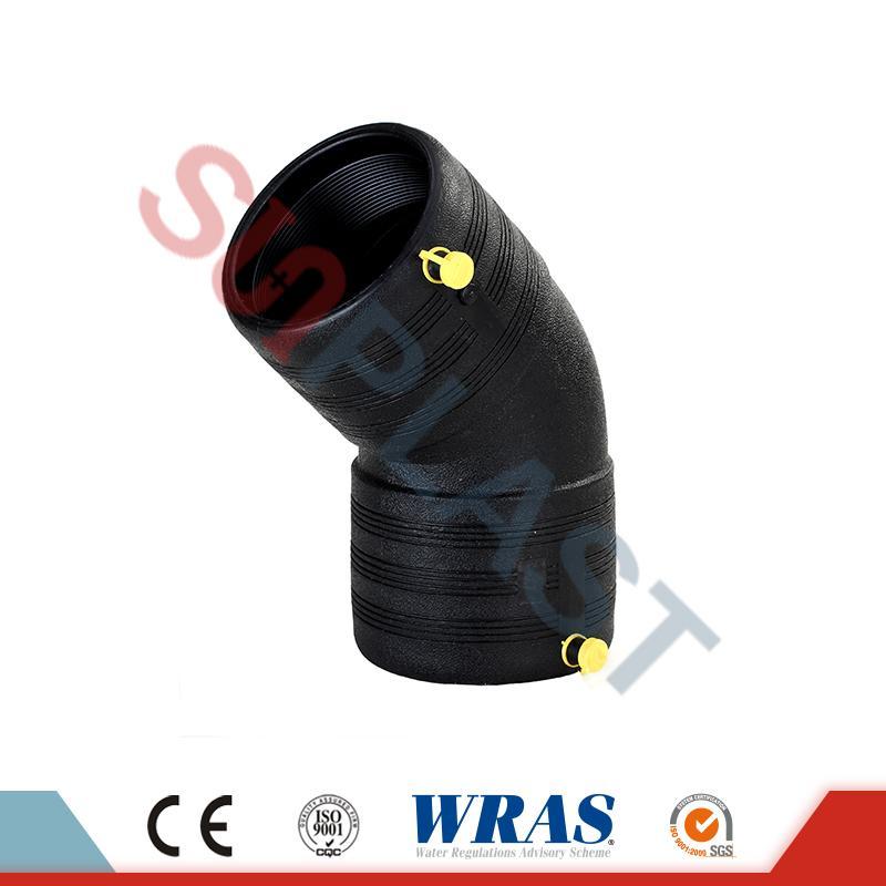HDPE Elektrofúzia 45 ° koleno
