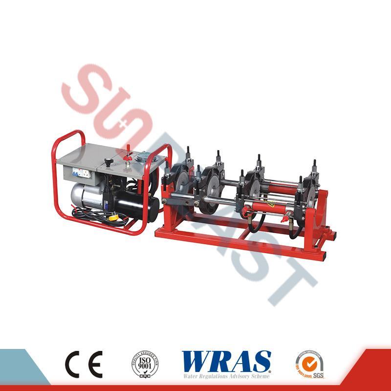 63-160mm hydraulický tavný zvárací stroj na zváranie HDPE rúr